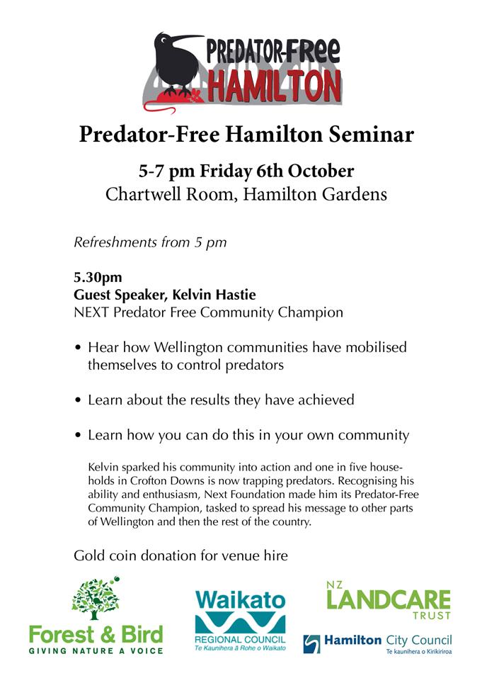 Predator-free Hamilton Seminar